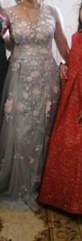 Платье напрокат, шифоновое платье с бантом на шее, Леваши