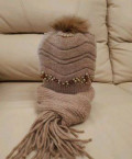 Шапка с шарфом, турецкие платья осень-зима, Неклюдово