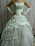 Купить одежду на новый год, свадебное платье цвет шампанского, Дивное