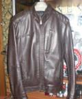 Мужская Куртка из кажзама размер 46, мужские пиджаки в клетку с заплатками на локтях купить, Липецк