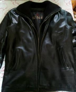 Мужской кардиган с рубашкой, кожаная куртка