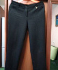 Шуба чернобурка короткая с капюшоном, брюки классика 2 шт, Мариинский Посад