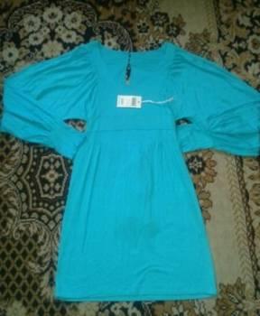 Одежда для спортсменов asics, платье вискоза, бирюзовый цвет. Новое. Не подошёл