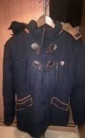 Куртка, кожаная куртка с тканевым капюшоном, Владимир