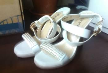 Купить дутики мон ами в интернет магазине, босоножки белые кожаные Glamur
