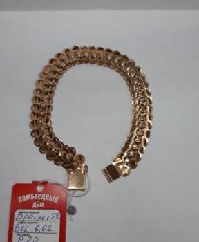 Золотой браслет 585 пробы (6212)