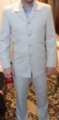 Продам белый мужской костюм, мужская шуба из шиншиллы, Москва