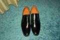 Обувь мужская без шнурков, туфли лакированные, черные, Мурманск