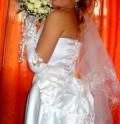 Свадебное платье, платье с широкой баской, Приволжский
