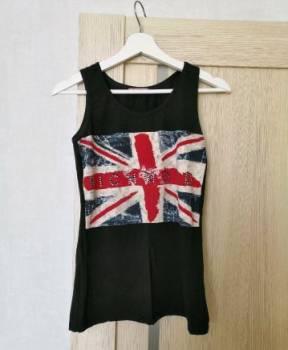 Платье черное с белым воротником и пышной юбкой, топ