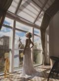 Продаю шикарное свадебное платье, шуба мутон двухцветная, Лунино