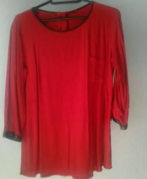 Красный блузон. Обмен, женские раздельные купальники