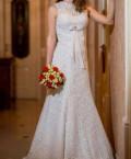 Вечернее платье русалка со шлейфом, свадебное платье, Новомосковск