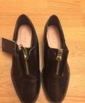 Ботинки лоферы Zara, итальянская обувь зимняя женская из натуральной кожи распродажа, Архангельск