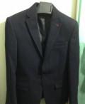 Пиджак и рубашка р.44, пиджаки мужские приталенные темные, Питкяранта