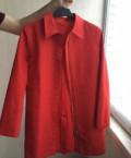Красный плащ Elle, женская одежда больших размеров оптом дешево, Москва
