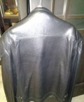 Куртка кожаная, черный мужской пуховик jeep z-1278, Рыбное