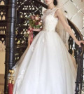 Платье из льна с принтом, свадебное платье, Дубовое