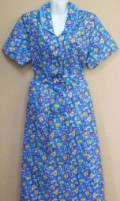 Бязевый халат, пллатья, золотой песок платье в пол синее, Афонино