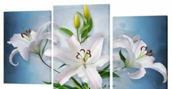 Картина модульная 95*65 см. Лилии, цветы, фрукты