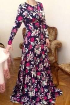 Платье 38 размер, черные джинсы женские на высокой талии