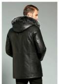 Куртка мужская, кожа натуральная, натуральный мех, мужское нижнее белье акция, Находка