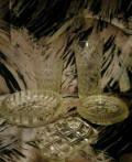 Вазы, конфетница, пепельница из стекла СССР, Балашейка