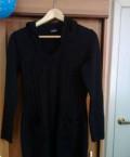 Маленькое черное платье с коротким рукавом, кофта тёплая, Кривошеино