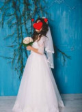 Бифри платье космос, продам счастливое свадебное платье, рукав 3/4, Ессентукская
