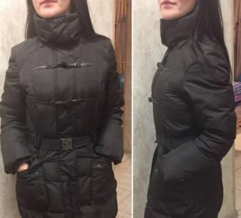 Платье из пайеток черное, пуховик Benetton