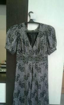 Платье коктейльной ручной работы, платье золотистого белого цвета
