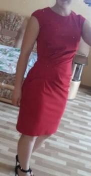 Красное платье, платья из мокрого шелка италия