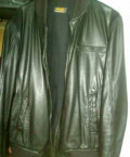 Кожаная куртка, футболка с капюшоном и длинным рукавом мужская, Киевский