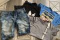 Укороченные брюки адидас мужские цена, пакет вещей 48-50, Москва