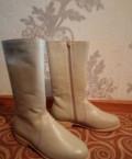 Сапоги Демисезонные Натуральные, коричневые женские туфли купить, Шербакуль
