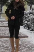 Одежда для активного отдыха зимой бренды, дубленка женская натуральная, Ермолино