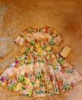 Прямое платье с рукавами воланами, платье, Череповец