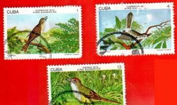 """Продам гашеные марки """"Aves Endemicas"""", 78 г., Cuba"""