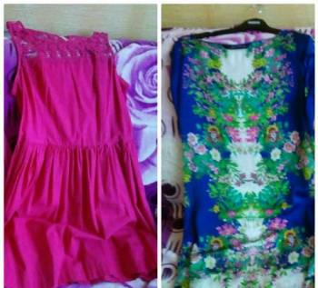 Пакет женских вещей, платье с прозрачной полосой на подоле