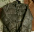 Джинсовая куртка на молнии мужская, пуховик Reebok, Высокая Гора