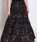 Стильная одежда для женщин в интернет магазине, юбка в пол из батиста черная, Верх-Тула