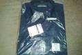 Рубашка в мелкую клеточку цветная, сорочка мужская новая темно-синего цвета, качество, Мухен