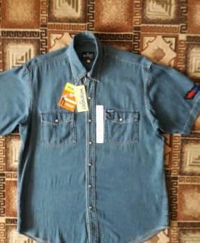 """Джинсовая рубашка (кор. рукав) """"Wrangler"""" размер:50, майка женская опт купить"""