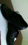 Туфли мужские Emporio Armani, ботинки экко демисезонные черные, Бердск