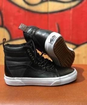 Брендовые Женские Кожаные Кеды Vans 721356, туфли каблук женщина