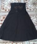 Маленькое черное платье, купить летнее платье из хлопка большого размера, Птичье