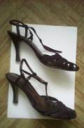 Золотистая коричневая кожа и плетение Босоножки, обувь на танкетке ботильоны, Котельники