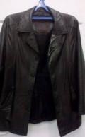Кожаная куртка, мужские брюки с резинкой внизу, Тюмень