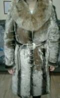 Шуба мутоновая, шелковое платье модели, Мичуринск