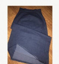 Юбка джинсовая, синее платье черный пиджак, Избербаш